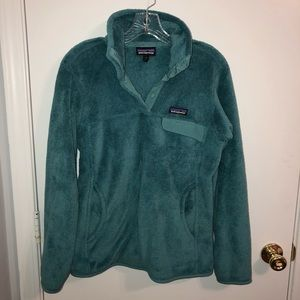 Women's Teal Blue Fleece Patagonia Med